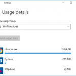 How to set Data Limit for WiFi and Ethernet in Windows 10